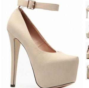 Glaze Nude Sky High Platform Heels